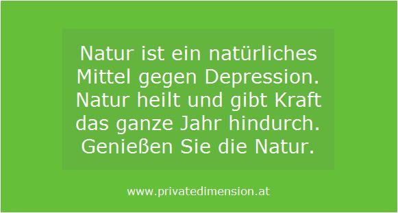 Natur gegen Depression